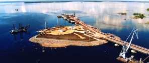 Construction of infrastructure facilities for a distribution transshipment oil products complex (Vysotsk)