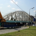 Construction of a railway viaduct over the Varshavskoye highway