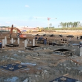 Construction of Yuzhnoye electric train depot of the St Petersburg metro